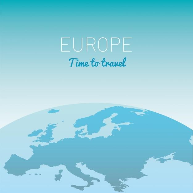 Ilustração em vetor globo mapa europa