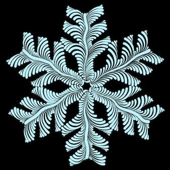Ilustração em vetor gráfico decorativo lindo floco de neve a céu aberto