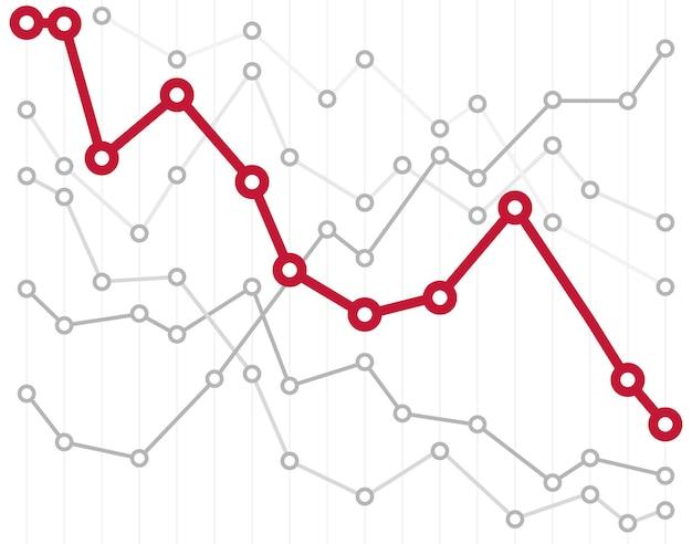 Ilustração em vetor gráfico infográfico abstrato