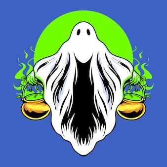 Ilustração em vetor halloween scarry costume