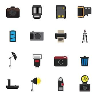 Ilustração em vetor ícone câmera fotografia
