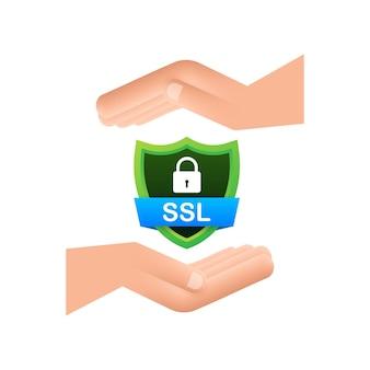 Ilustração em vetor ícone de conexão segura isolada no fundo branco