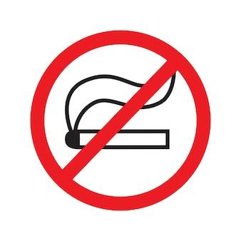 Ilustração em vetor ícone de placa de proibido fumar
