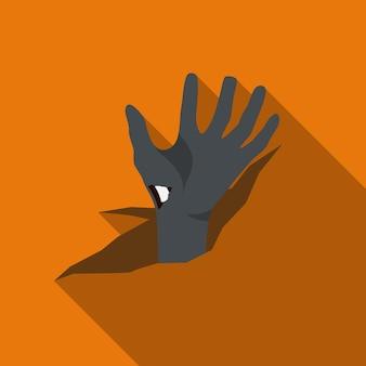 Ilustração em vetor ícone plana cadáver