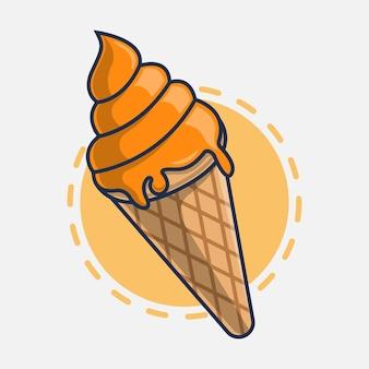 Ilustração em vetor ícone sorvete