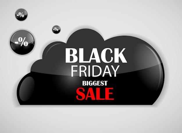Ilustração em vetor ícone venda sexta-feira negra. eps10