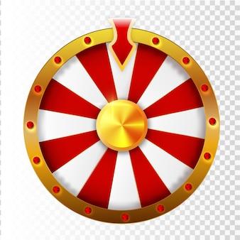 Ilustração em vetor infográfico roda colorida da sorte ou fortuna