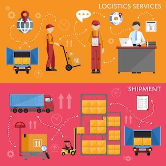 Ilustração em vetor infográficos processo logístico