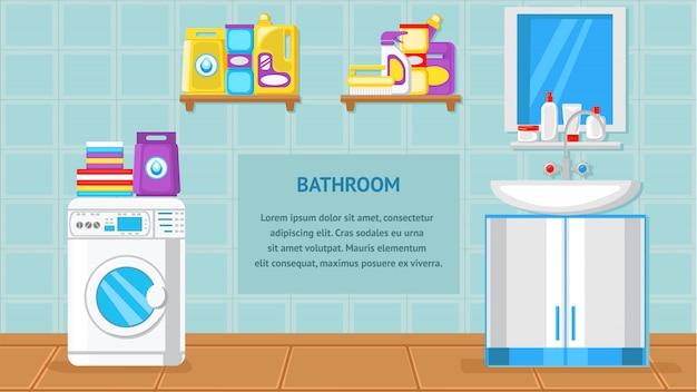 Ilustração em vetor interior banheiro