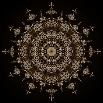 Ilustração em vetor islâmico fundo árabe círculo floral