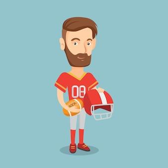 Ilustração em vetor jogador de rugby.