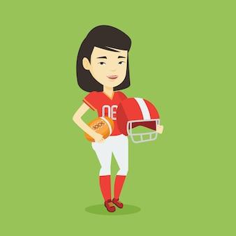 Ilustração em vetor jogador rugby.