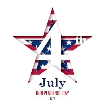 Ilustração em vetor julho dia da independência.