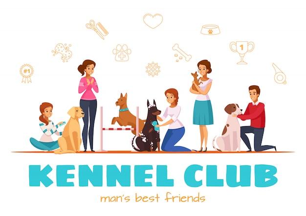 Ilustração em vetor kennel club