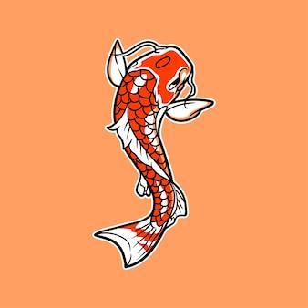 Ilustração em vetor koi peixe
