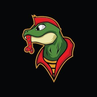 Ilustração em vetor lagarto punk