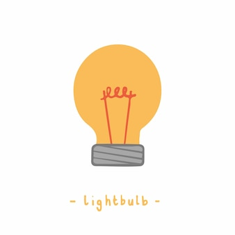 Ilustração em vetor lâmpada grande ideia