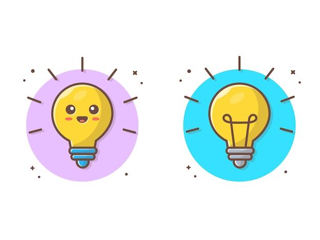 Ilustração em vetor lâmpada idéia