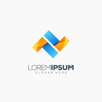 Ilustração em vetor letra n logotipo design