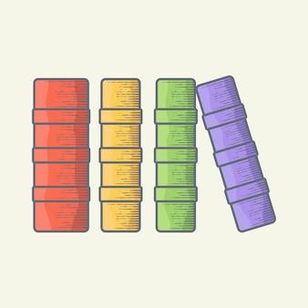 Ilustração em vetor livro em pé