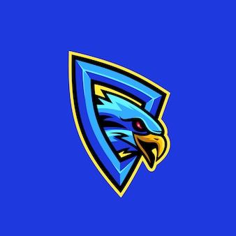 Ilustração em vetor logotipo águia