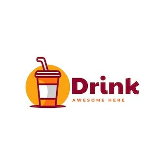 Ilustração em vetor logotipo bebida estilo simples mascote
