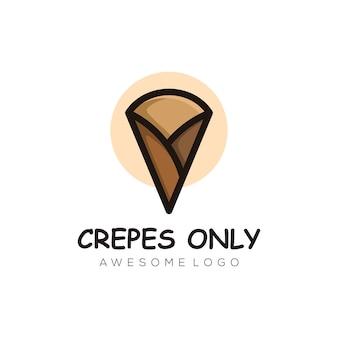 Ilustração em vetor logotipo crepes estilo mascote simples