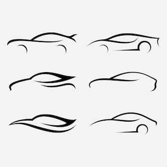 Ilustração em vetor logotipo de carro automotivo auto car logo