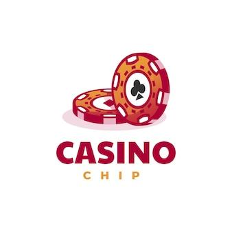 Ilustração em vetor logotipo estilo simples mascote de cassino