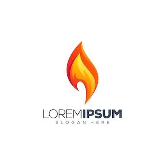 Ilustração em vetor logotipo fogo