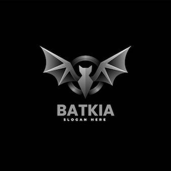 Ilustração em vetor logotipo gradiente de morcego estilo colorido