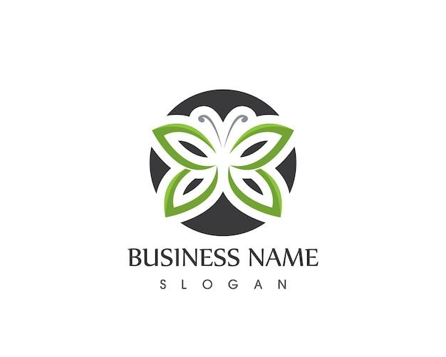 Ilustração em vetor logotipo ícone borboleta.