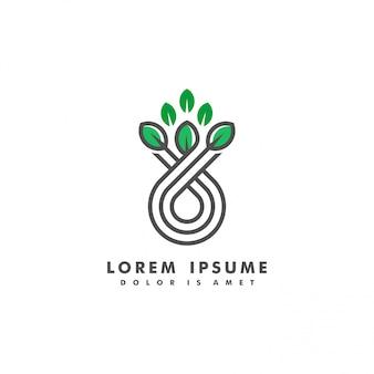 Ilustração em vetor logotipo paisagem narture
