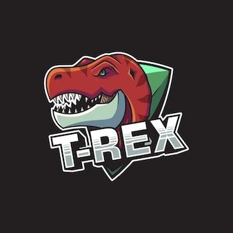Ilustração em vetor logotipo t-rex