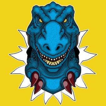 Ilustração em vetor logotipo tyranosaurus