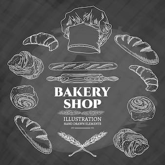Ilustração em vetor loja de padaria