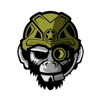 Ilustração em vetor macaco tático