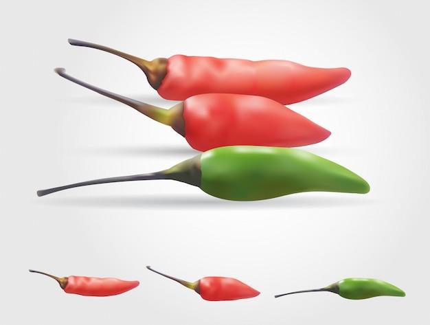 Ilustração em vetor malha gradiente chili, objetos editáveis