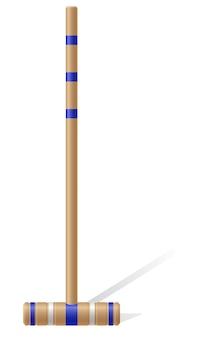 Ilustração em vetor malho croquet