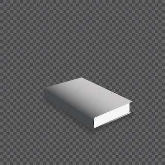Ilustração em vetor maquete livro realista.