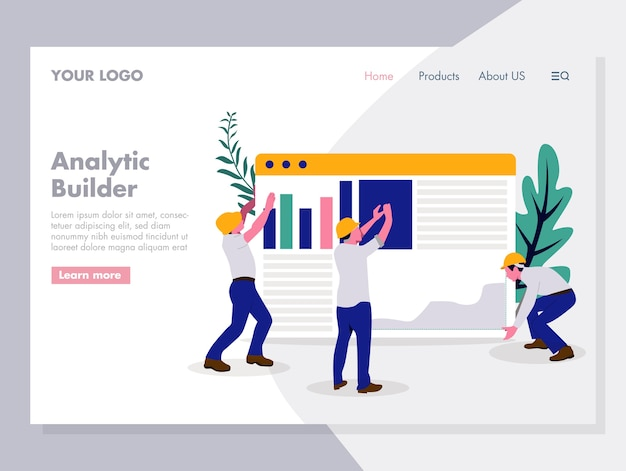 Ilustração em vetor marketing analítico digital