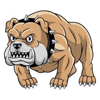 Ilustração em vetor mascote bulldog