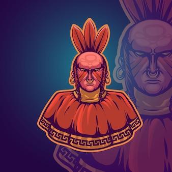 Ilustração em vetor mascote do povo indiano