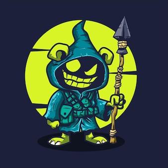 Ilustração em vetor mascote goblin do ícone dos desenhos animados