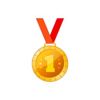 Ilustração em vetor medalha de ouro
