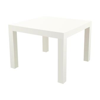 Ilustração em vetor mesa lateral quadrada