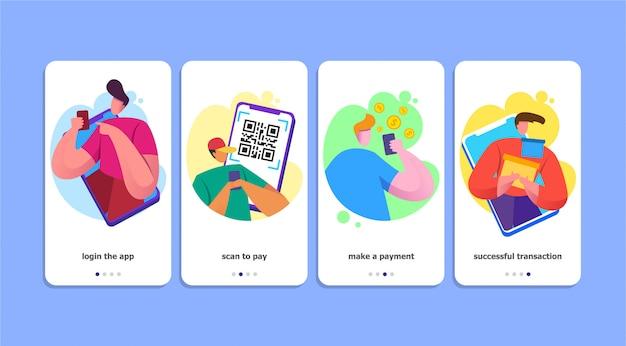 Ilustração em vetor método qr pagamento