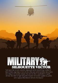 Ilustração em vetor militar, fundo do exército.