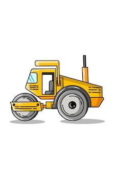 Ilustração em vetor mini trator