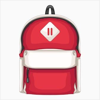 Ilustração em vetor mochila vermelha única